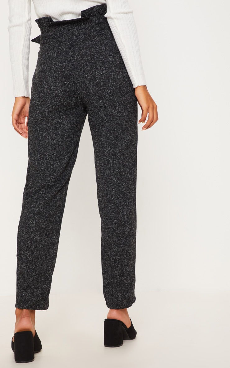 Black Belted Tweed Cigarette Trouser 4