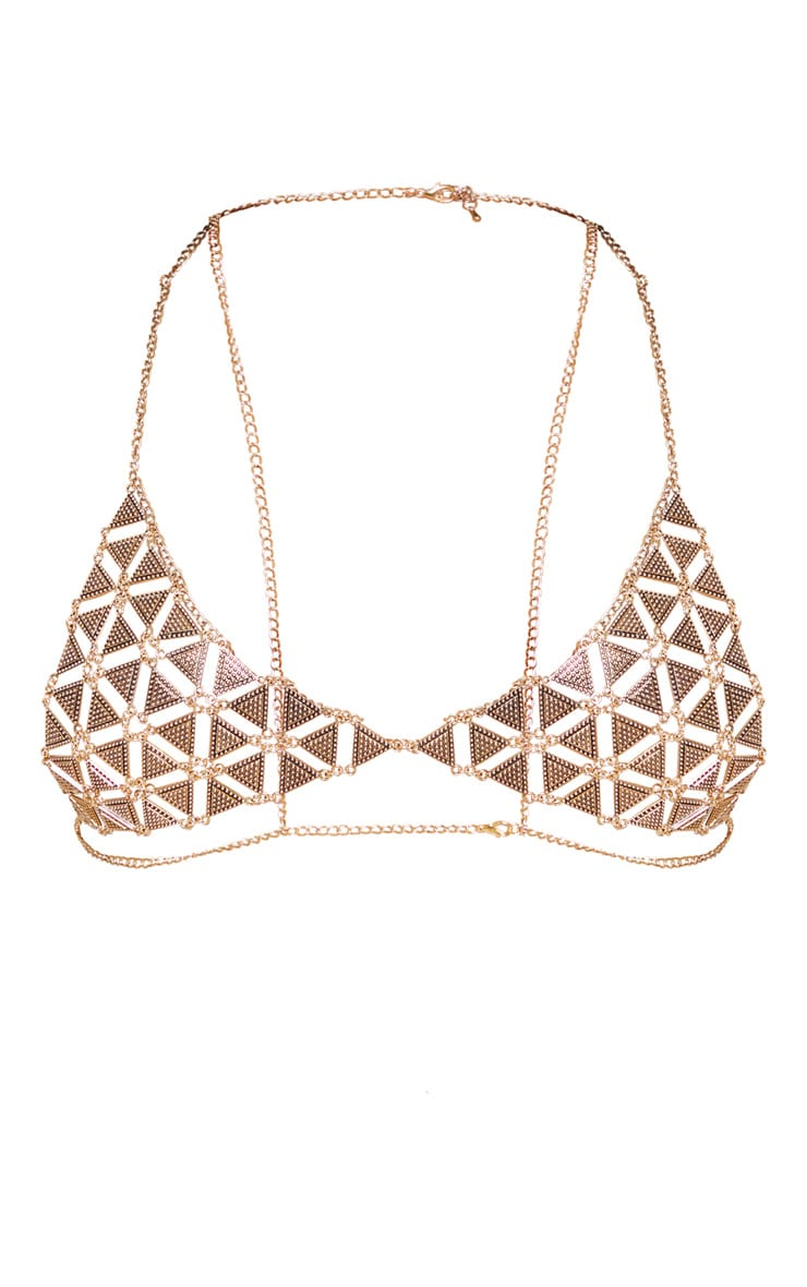 Calia Gold Chain Bra 3