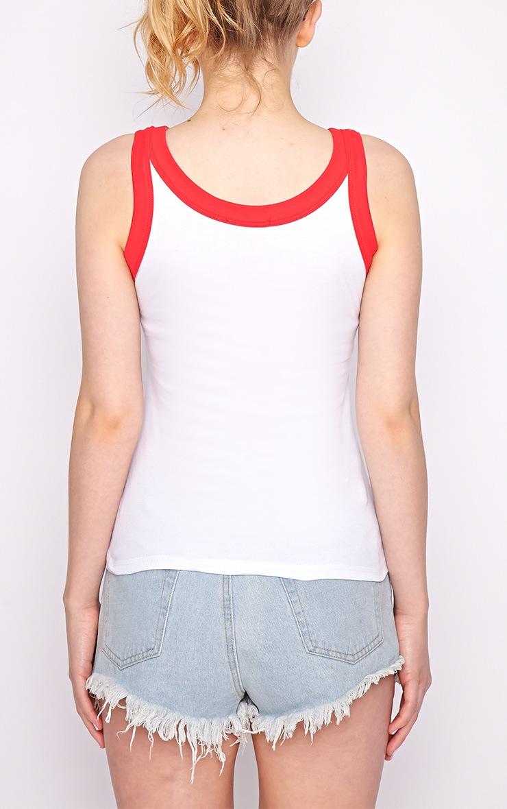Chloe White England Vest Top-M/L 2