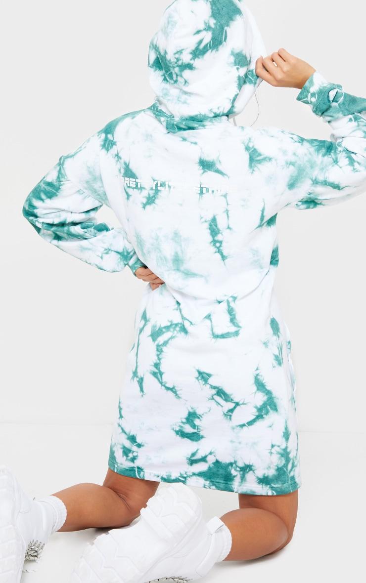 PRETTYLITTLETHING Petite White Tie Dye Sweater Dress 2