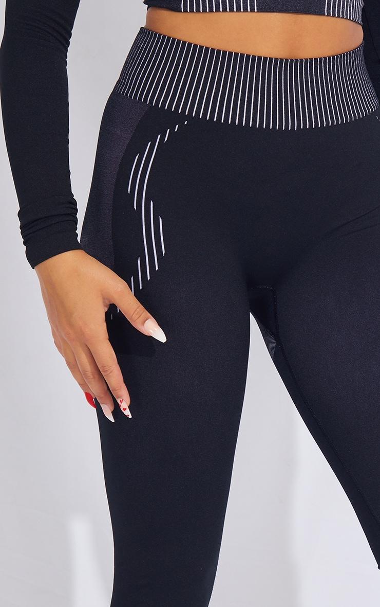 PRETTYLITTLETHING Black Contour Seamless Leggings 4