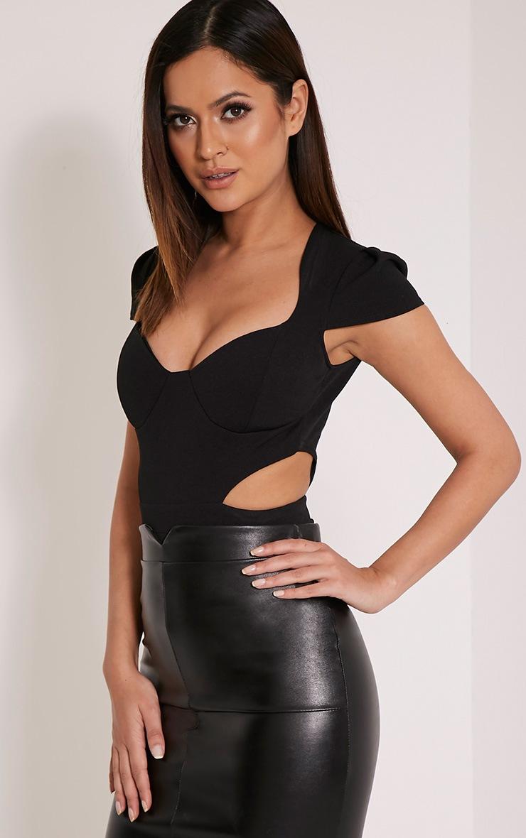 Riri Black Cut Out Bodysuit 1