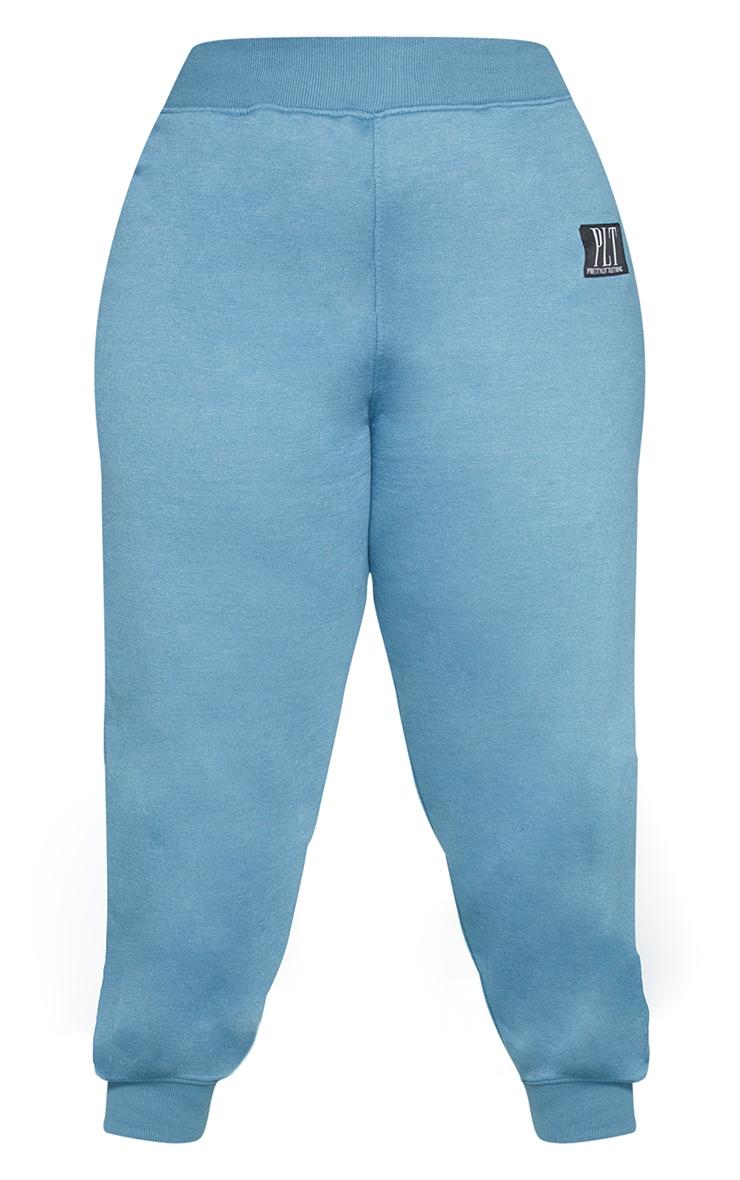 PRETTYLITTLETHING Plus Blue Badge Joggers 5