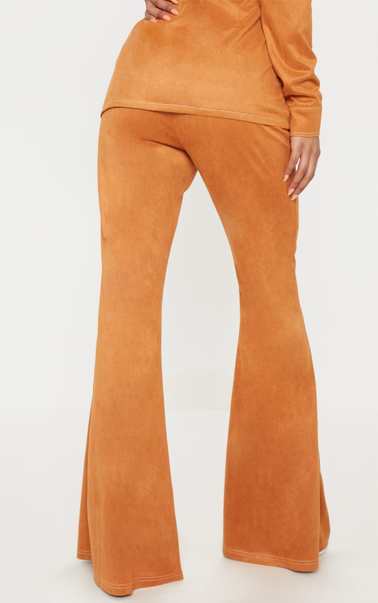 Toffee High Waisted Flare Leg Trousers 4