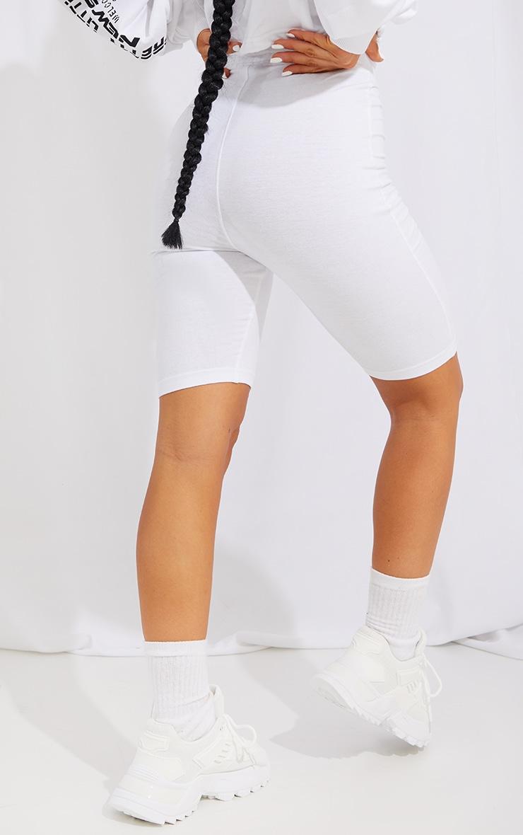 PRETTYLITTLETHING White New Season Slogan Bike Shorts 3