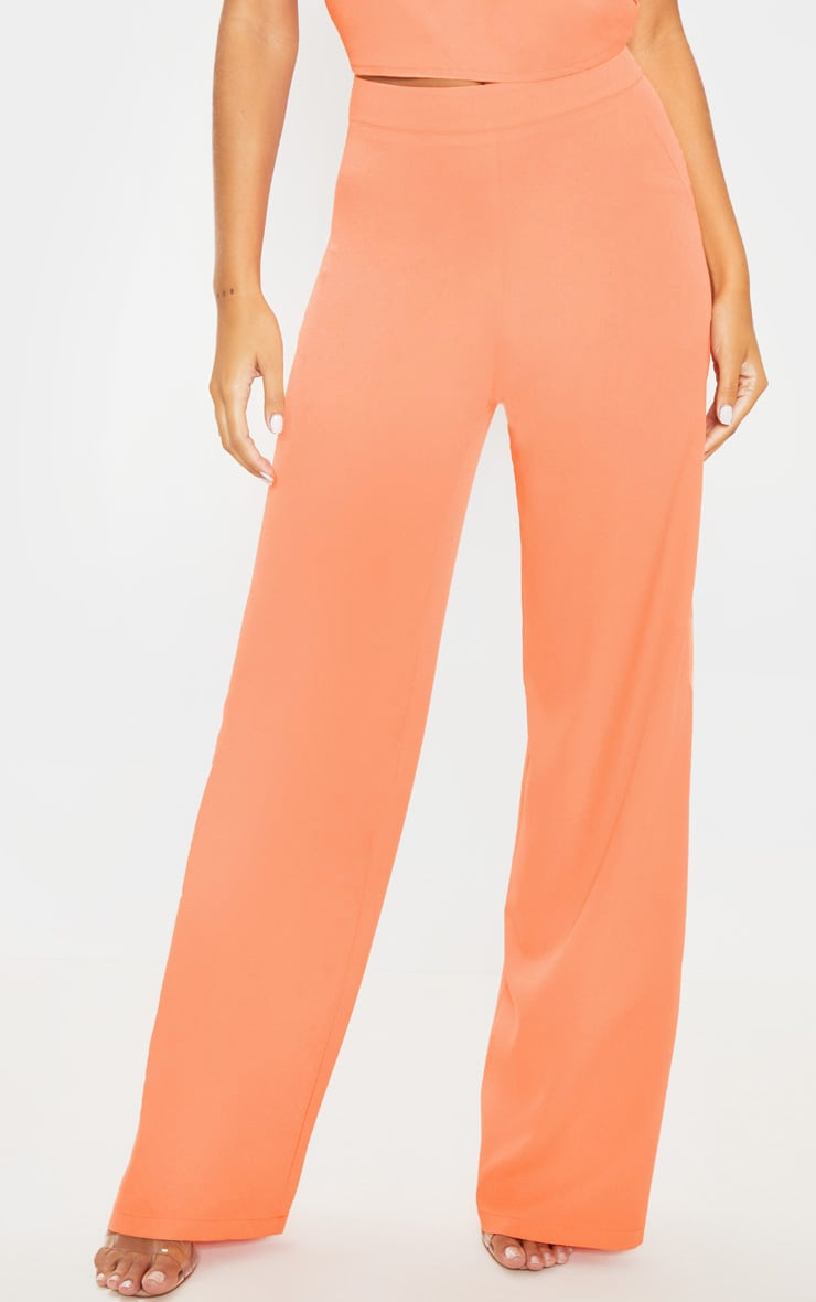 Peach High Waisted Wide Leg Trouser 2