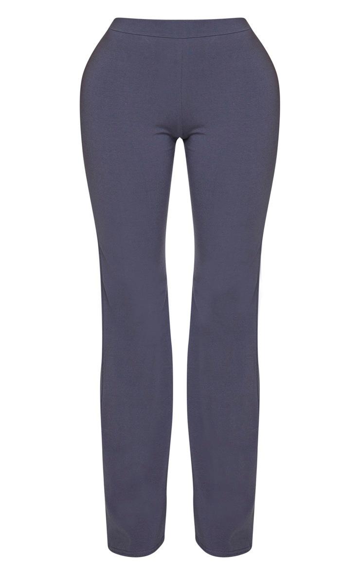Shape Charcoal Cotton High Waist Flared Trouser 4
