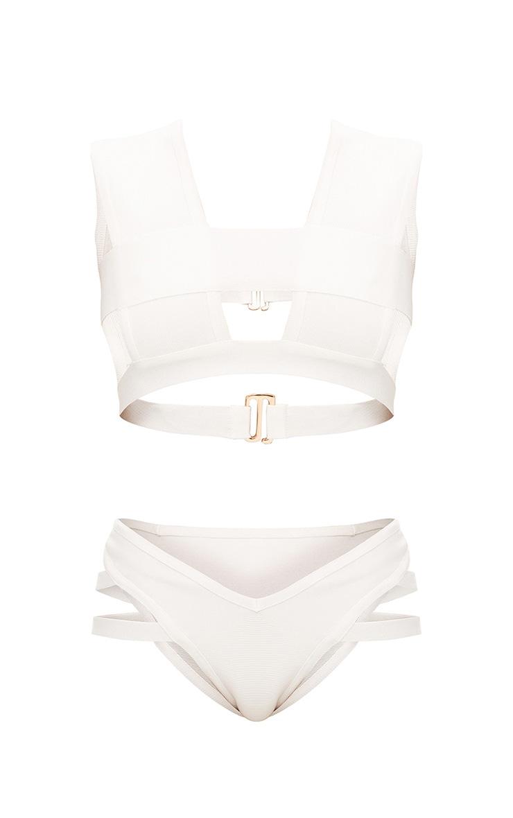 White Bandage Bikini Set 3