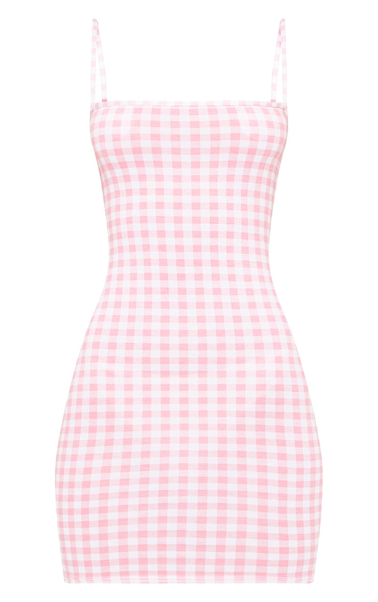 Minnie Pink Gingham Bodycon Dress 3