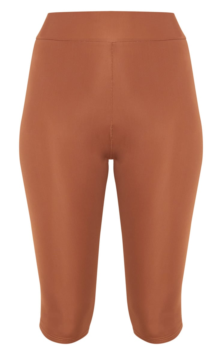 Brown Basic 3/4 Gym Legging 3