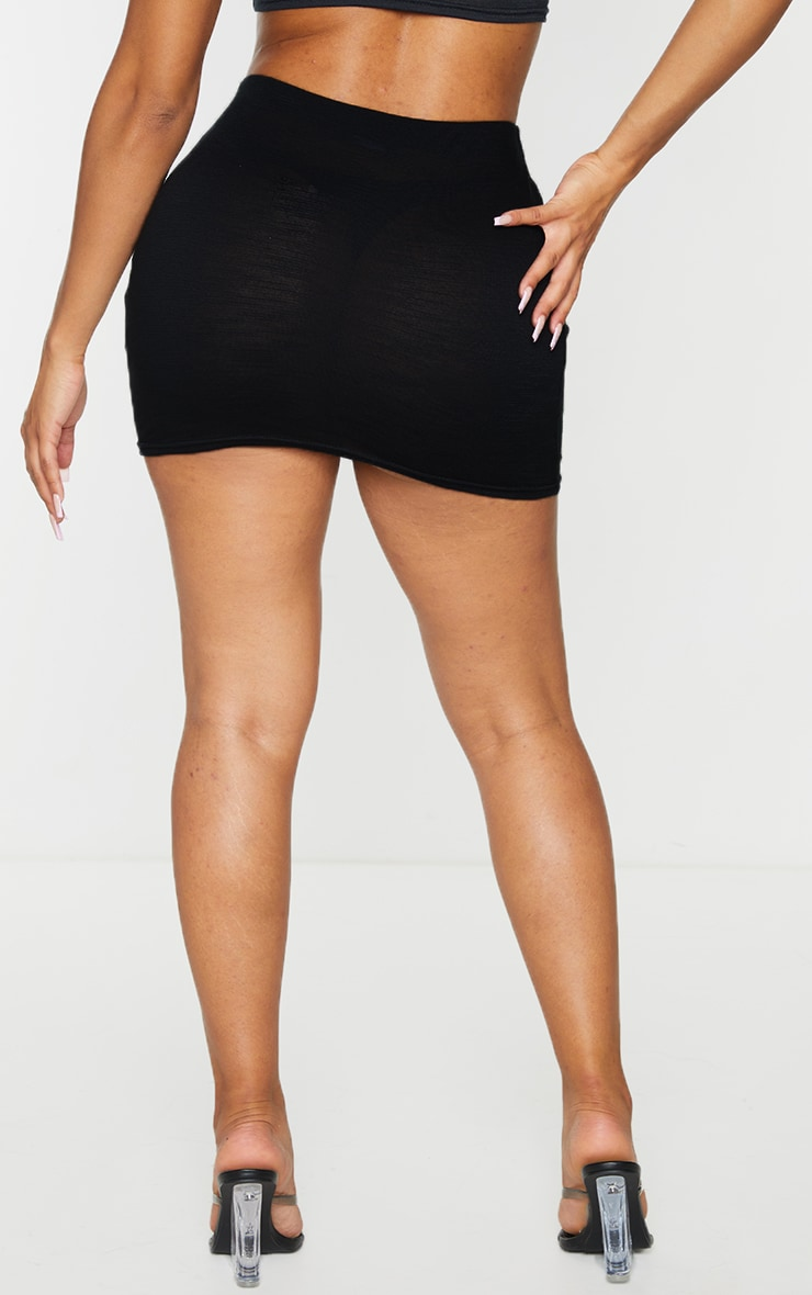 Shape Black Burnout Jersey Bodycon Skirt 3