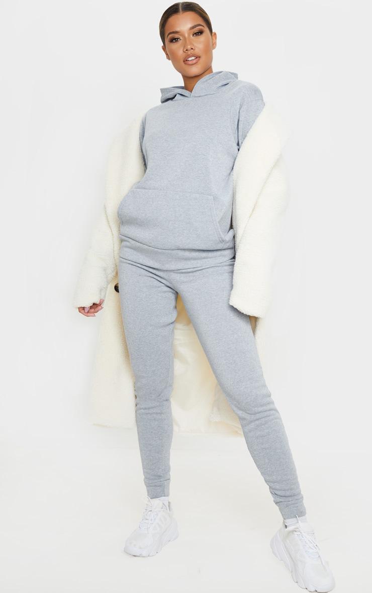 Grey Marl Fleece Hoodie 4