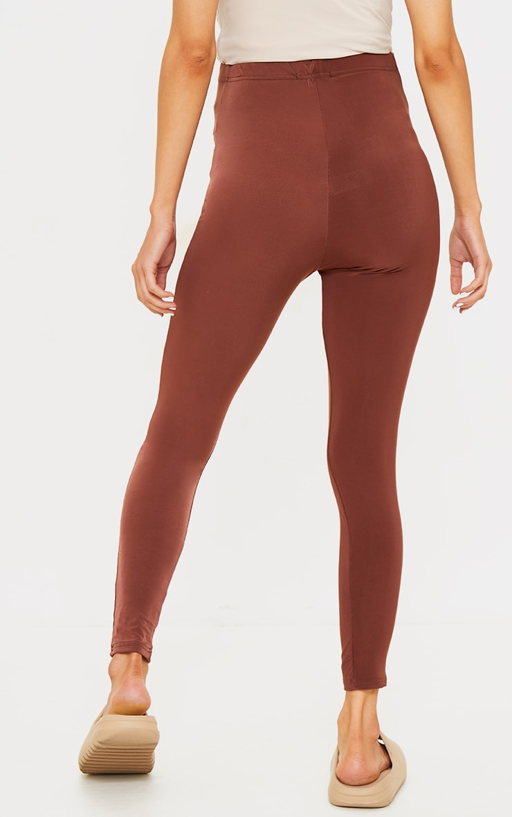 PLT Maternité - Legging taille haute marron chocolat slinky 3