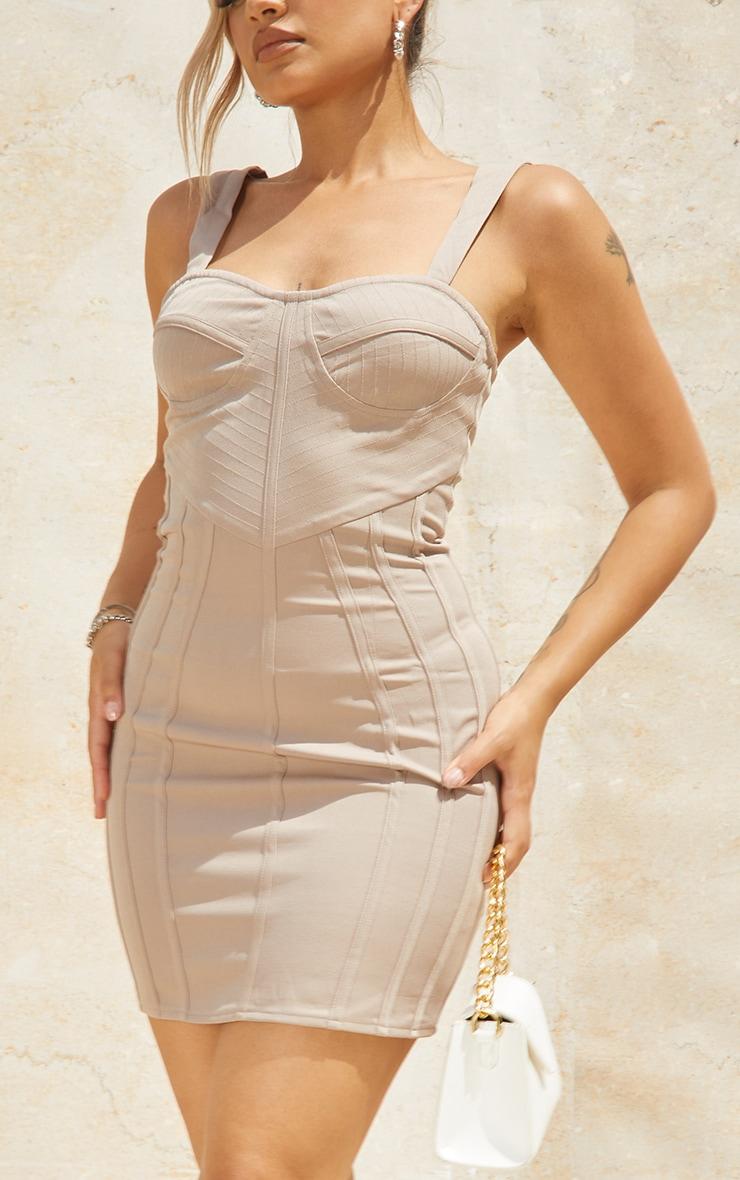 Petite Stone Strappy Corset Detail Dress 4