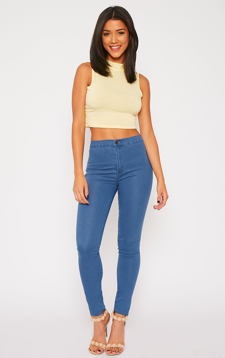 Jenna Blue Wash High Waist Jeans 1