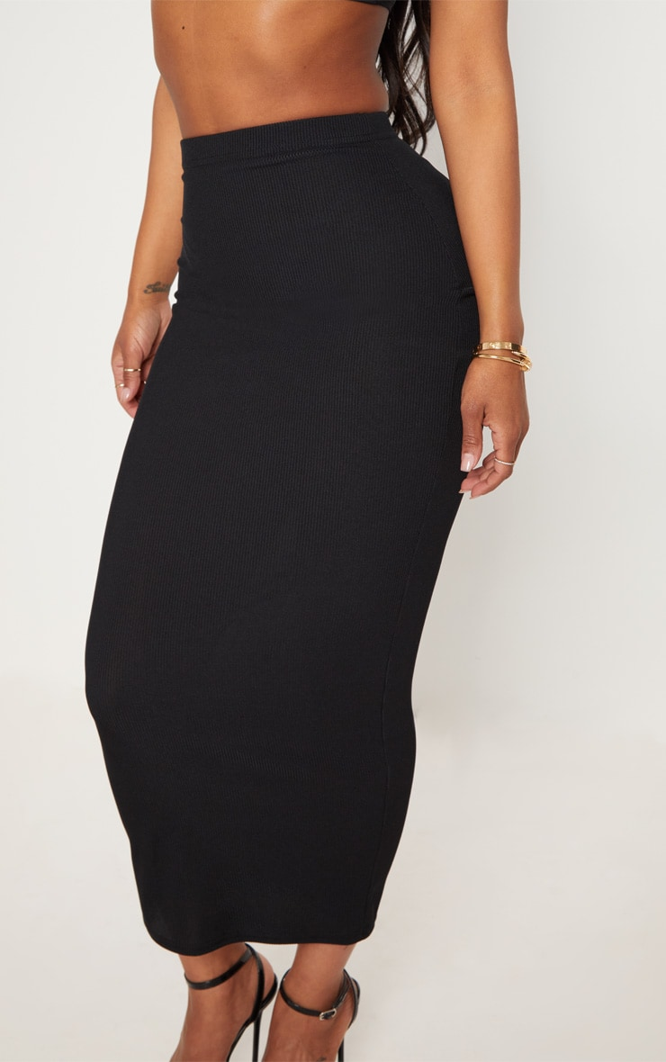 Shape Black Longline Midi Skirt 5