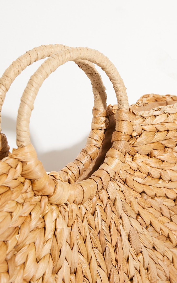 Straw Half Circle Bag 4