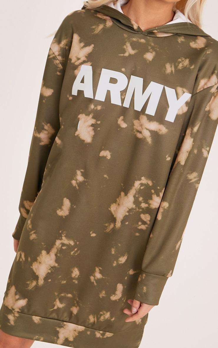 Army Tie Dye Jumper Dress Khaki 4