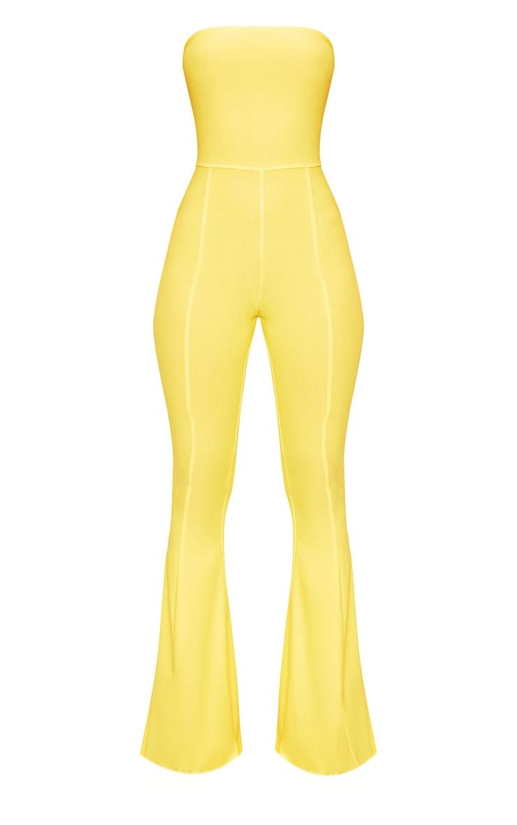 Yellow Bandeau Wide Leg Jumpsuit 3