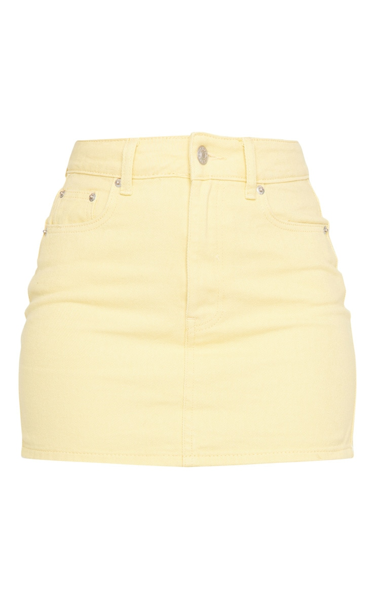 Lemon Denim Mini Skirt 5