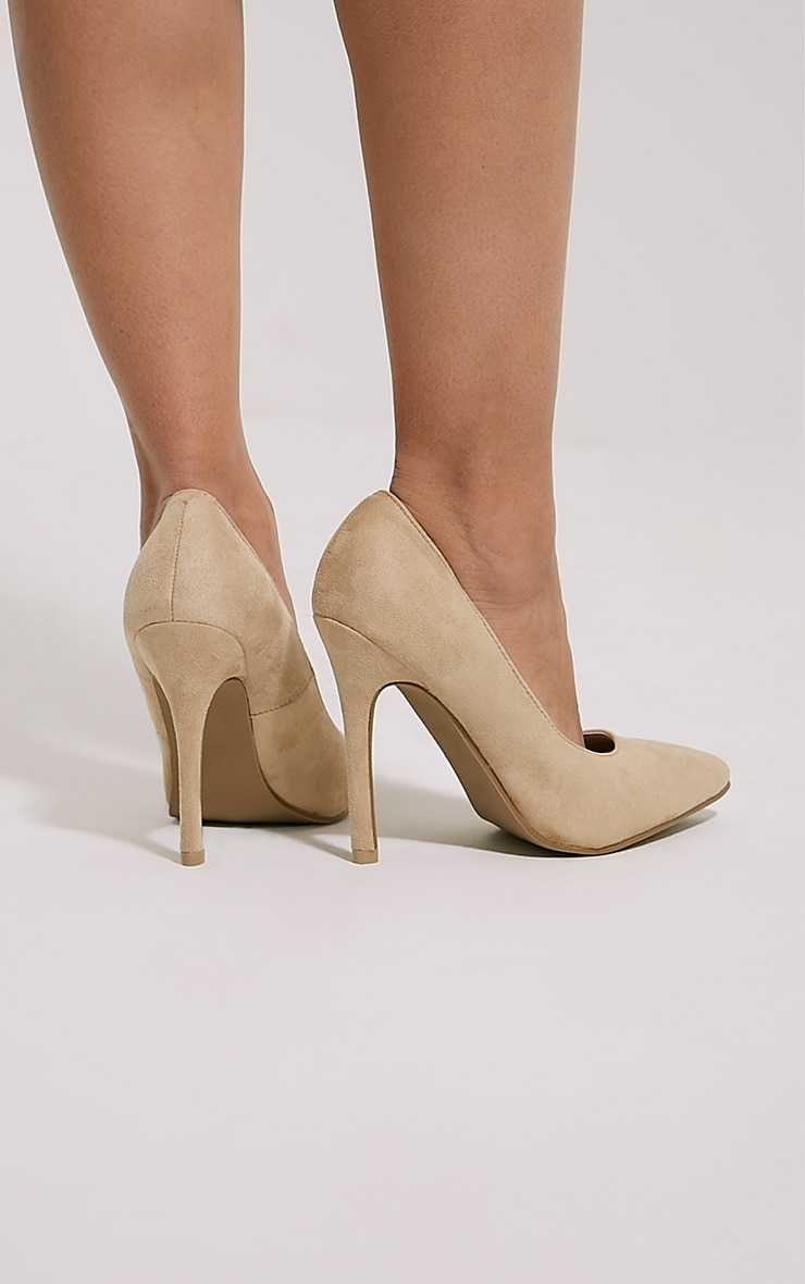 Magna Cream Suede Court Shoes 2