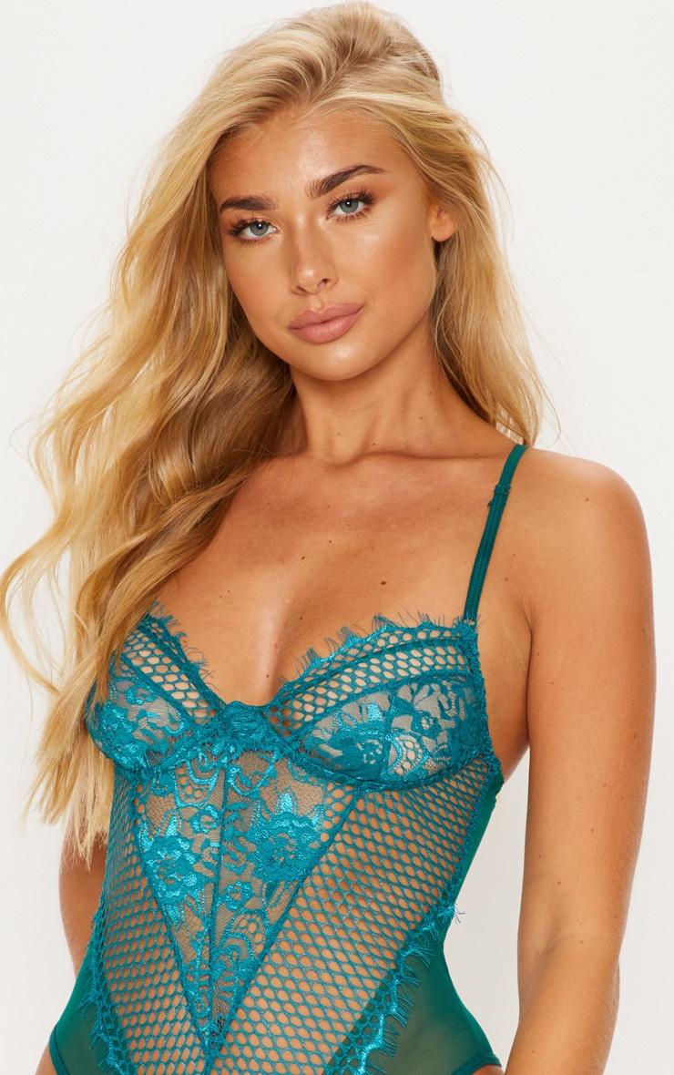 Emerald Eyelash Lace & Fishnet Body 6