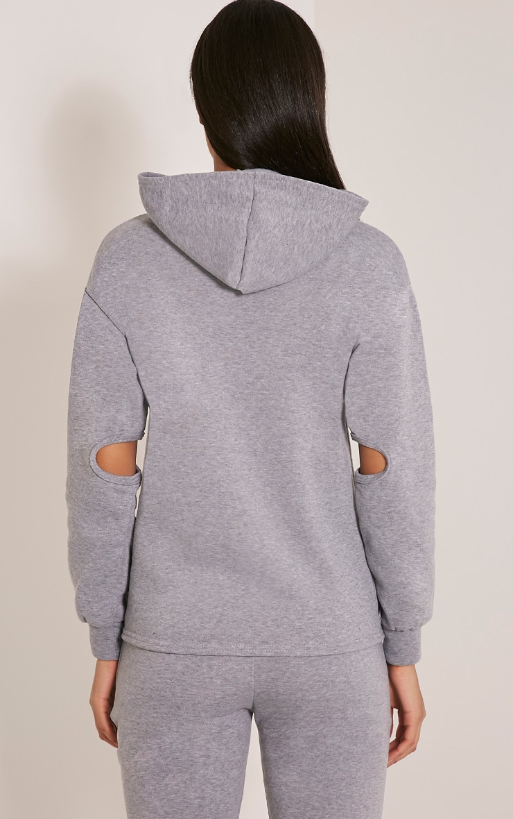 Dionne Grey Slit Elbow Sweater 2