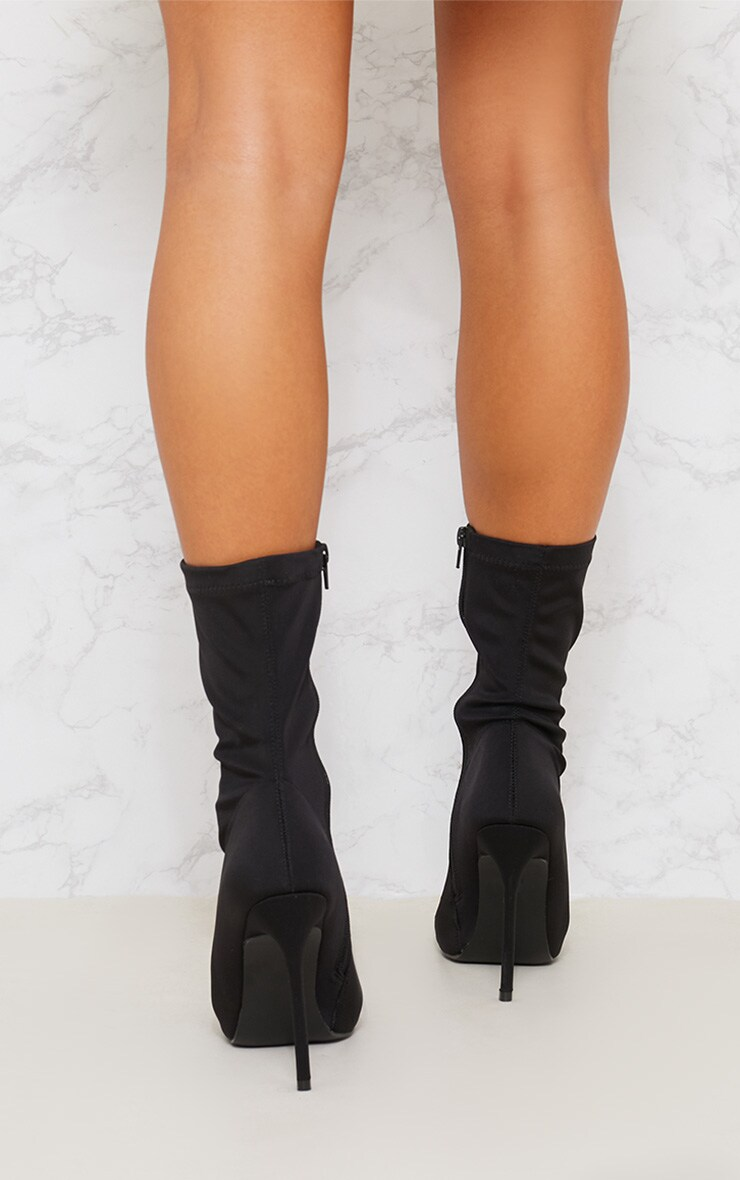 Black Lycra Sock Boot 3