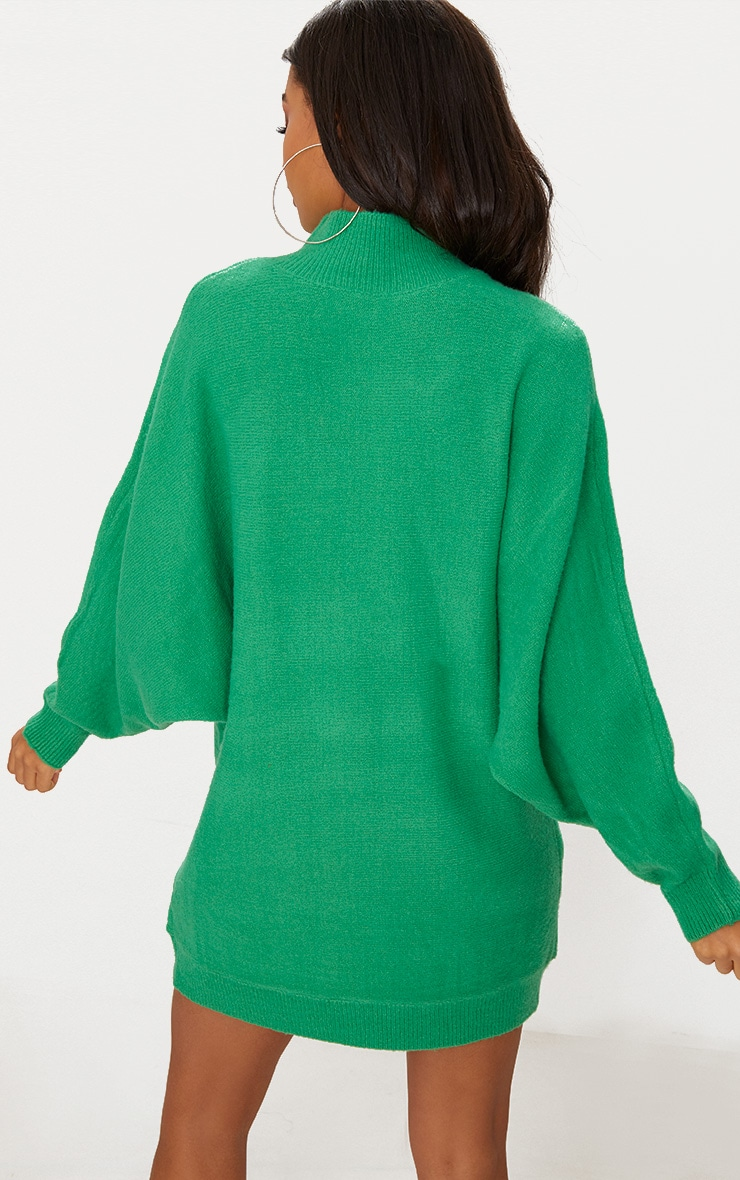 Green Oversized Jumper Dress 2