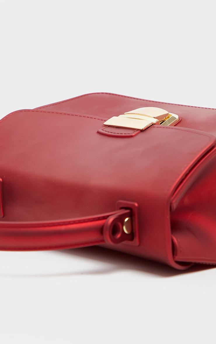 Red Matte Finish Mini Bag 4