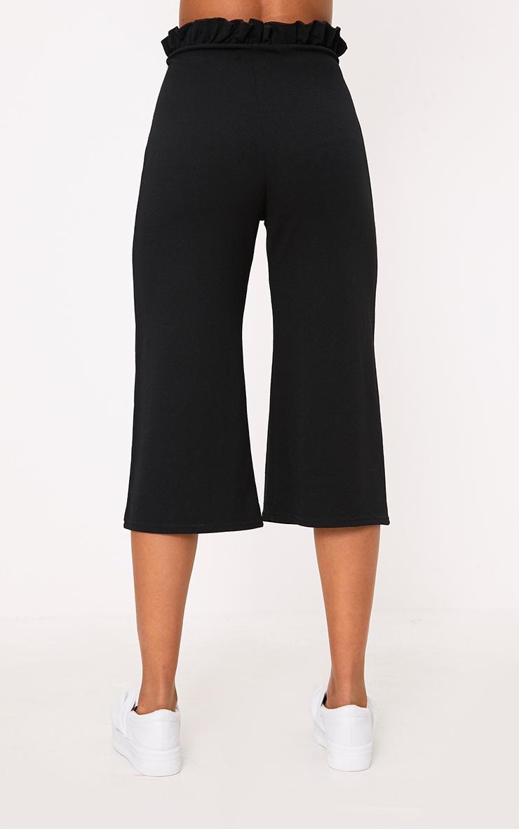 Jupe-culotte noire froncée 4