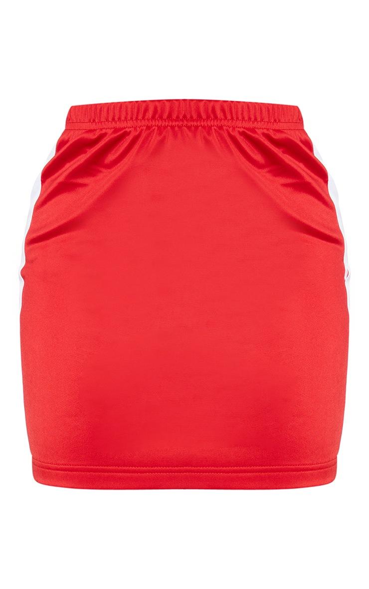 Petite Red Sports Stripe Bodycon Skirt 7