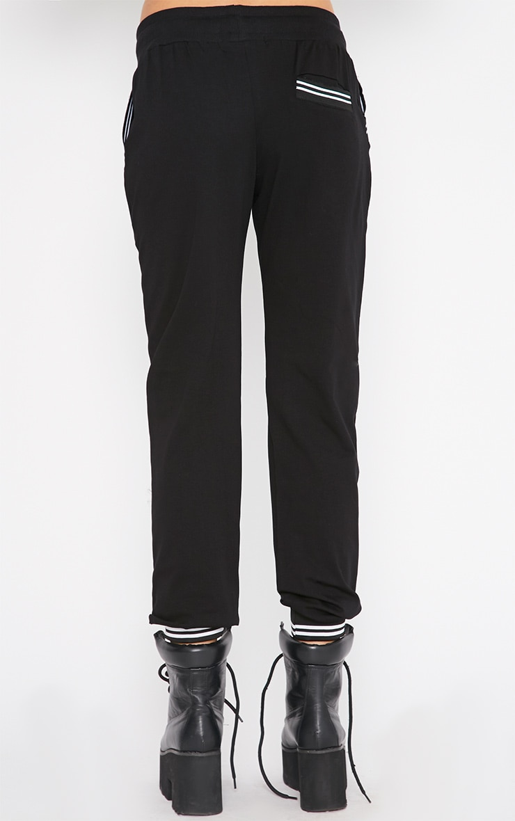 Juniper Black Sports Trim Jogger 3