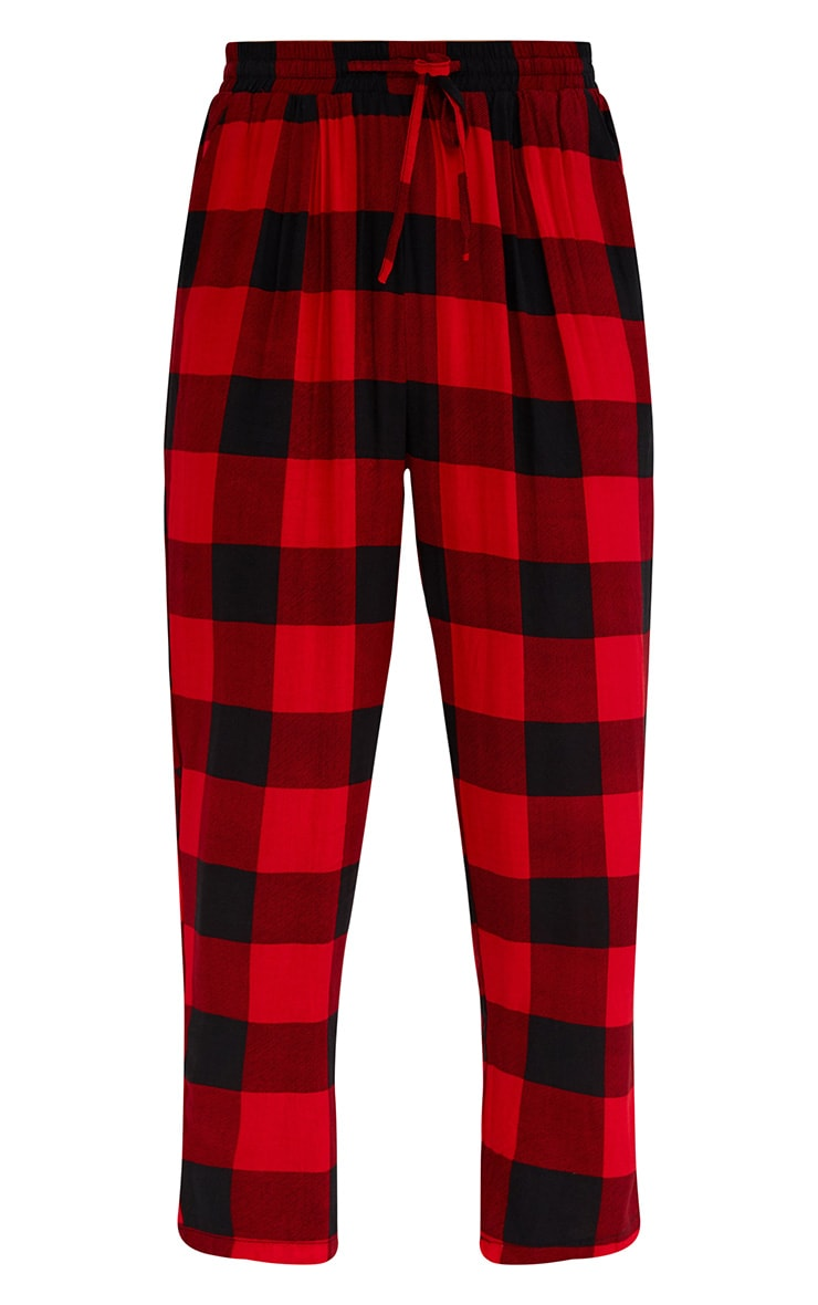 Red Check Casual Trousers 3