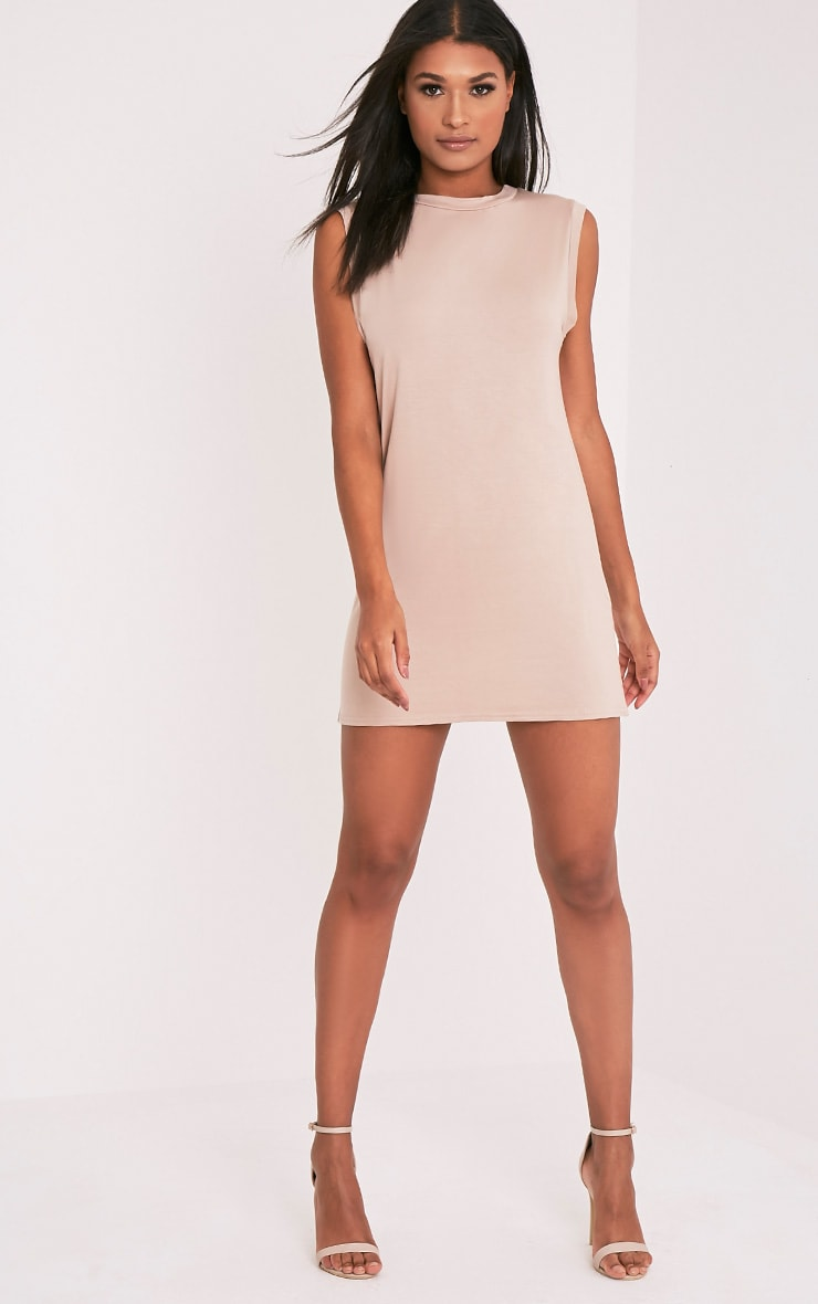 Lola Nude Sleeveless T-Shirt Dress 10
