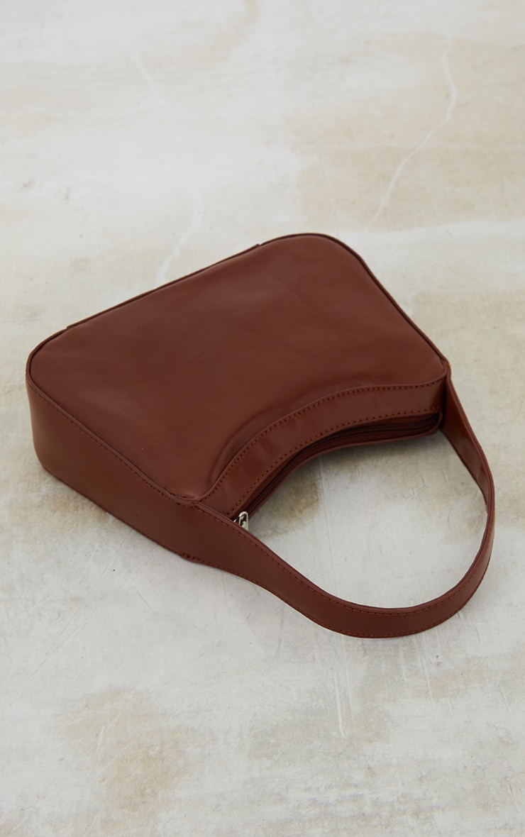 Chocolate PU Shoulder Bag 4