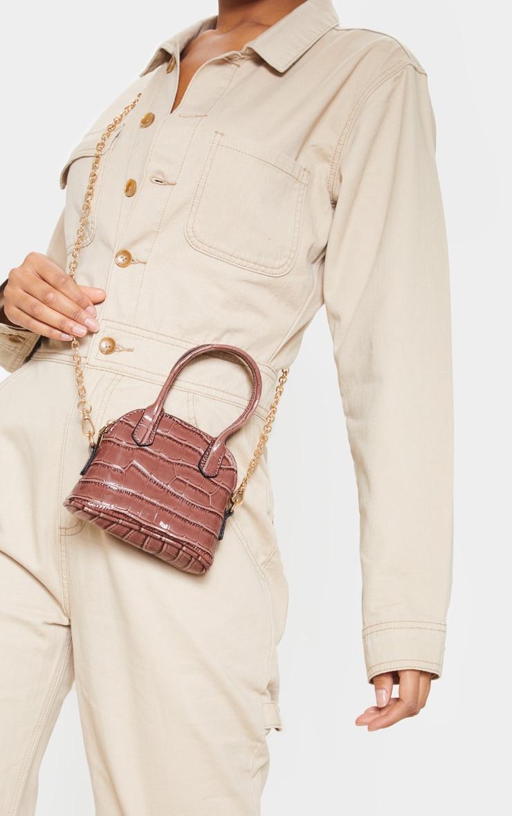 Rose Croc Mini Grab Bag 1