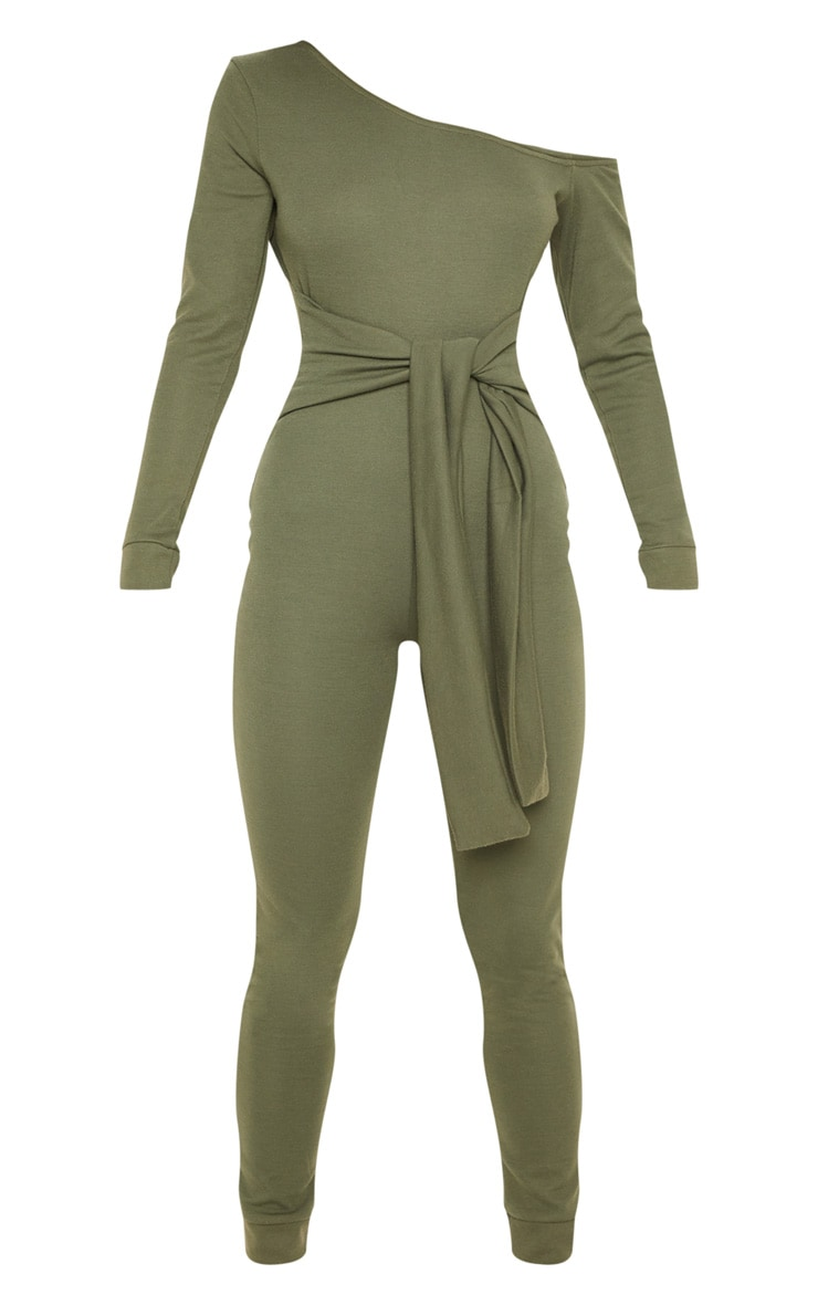 Khaki Sweat Jumpsuit 3
