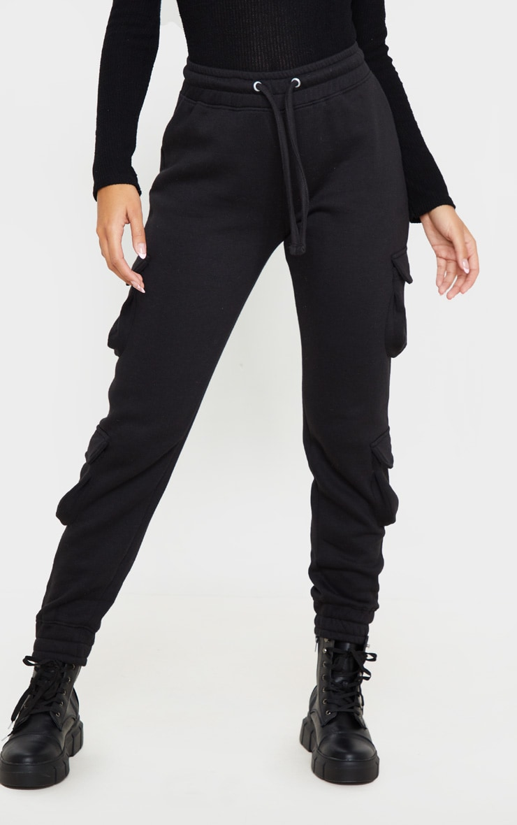 Black Pocket Detail Joggers 2
