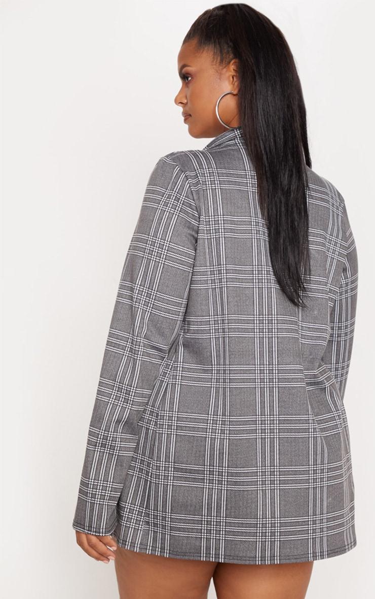 Plus Grey Checked Blazer 2