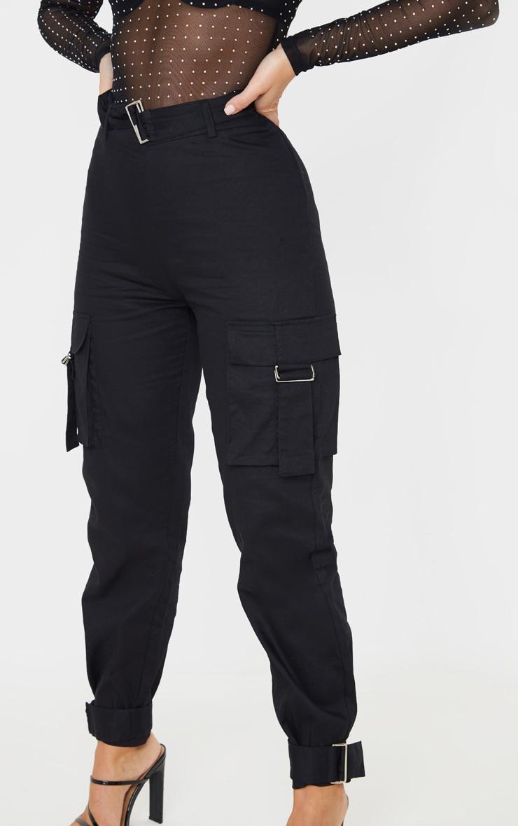 Black Cargo Trousers 4
