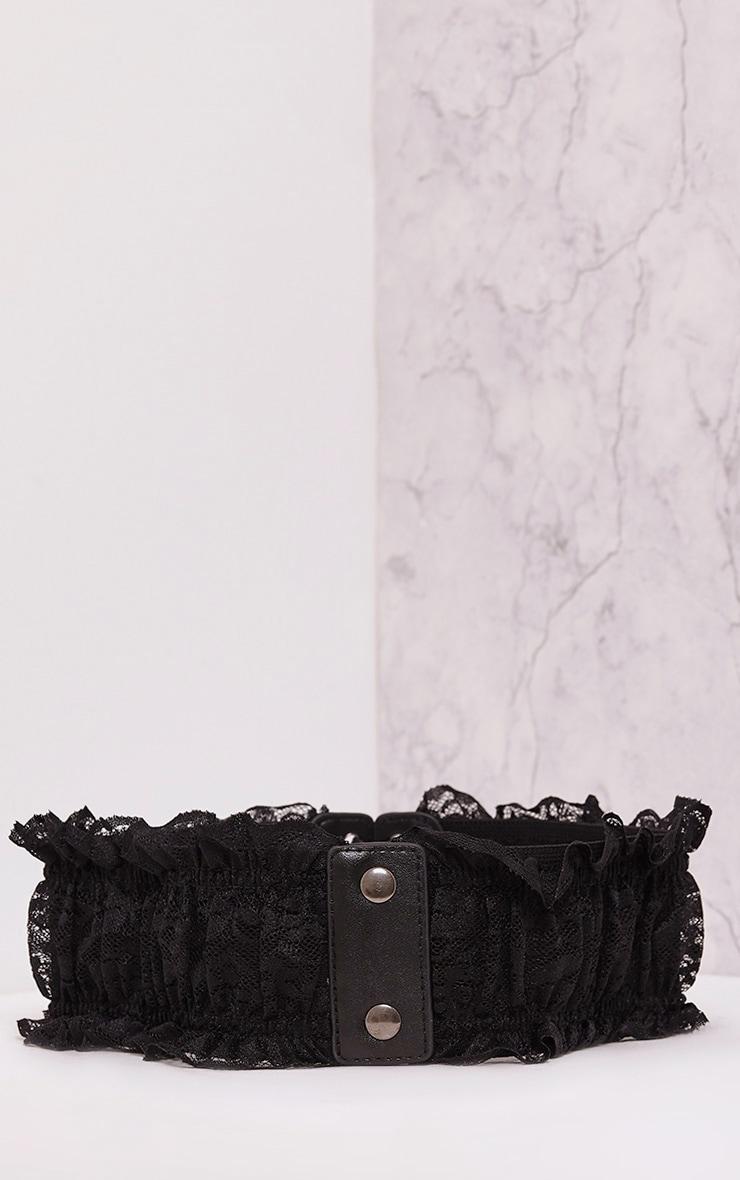 Ely Black Laced Detail Belt 4
