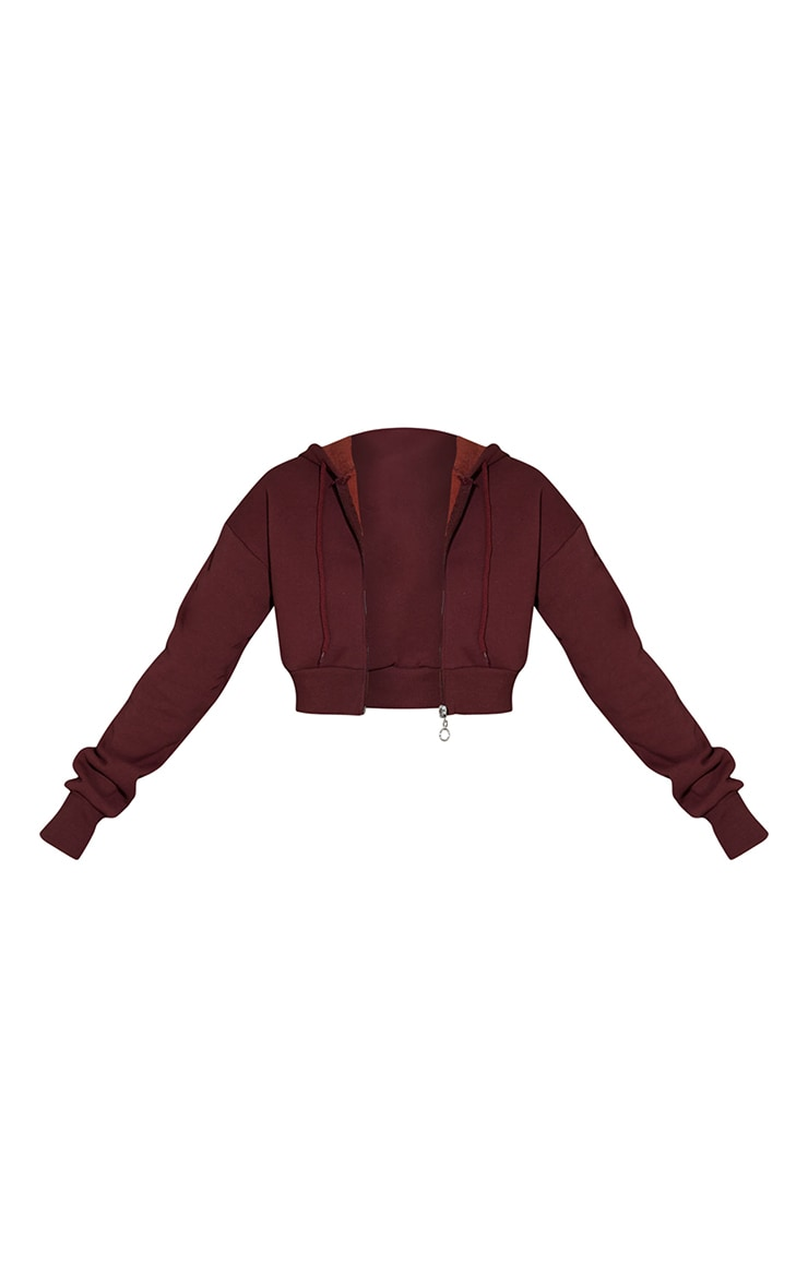 Hot Chocolate Double Zip Through Cropped Hooded Jacket 5