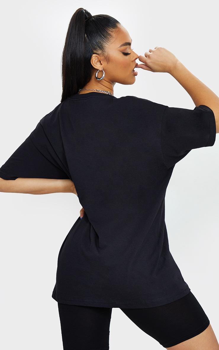 Black Printed Peace Logo T Shirt 2