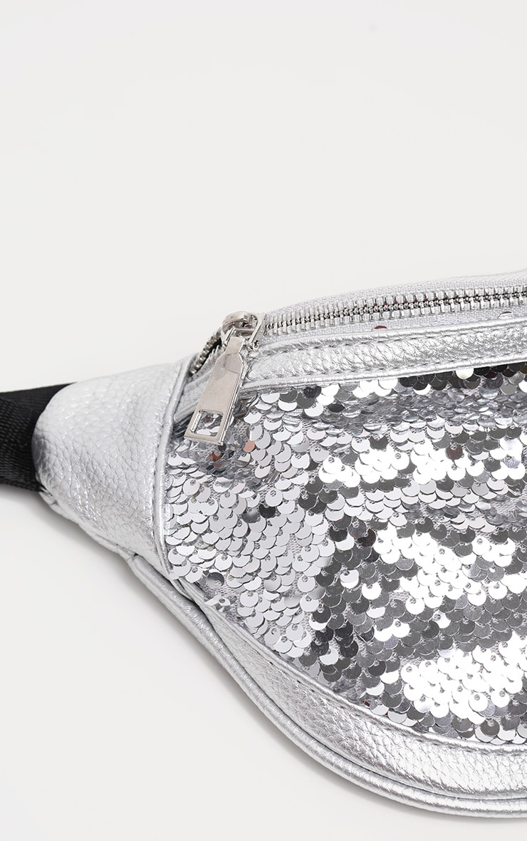 Silver Sequin Bum Bag 3