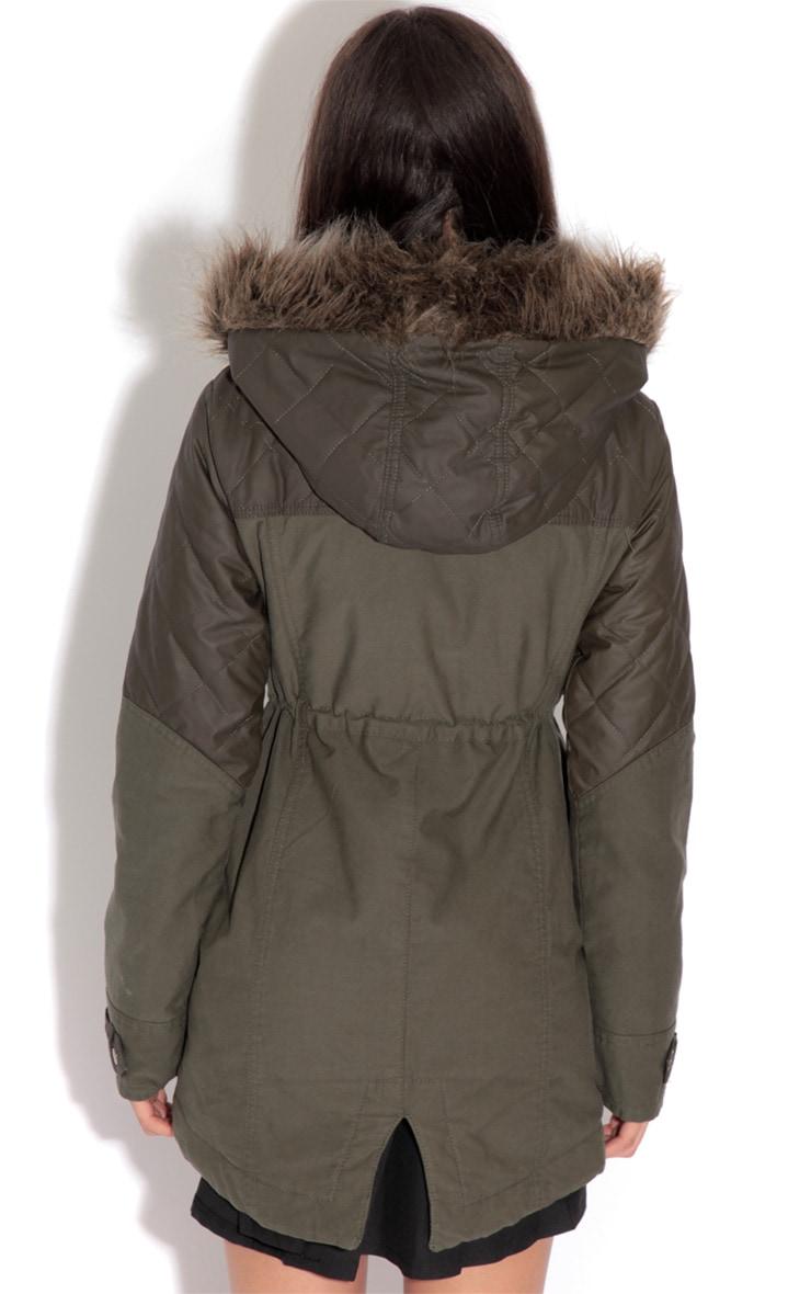 Cynthia Khaki Parka Coat 2