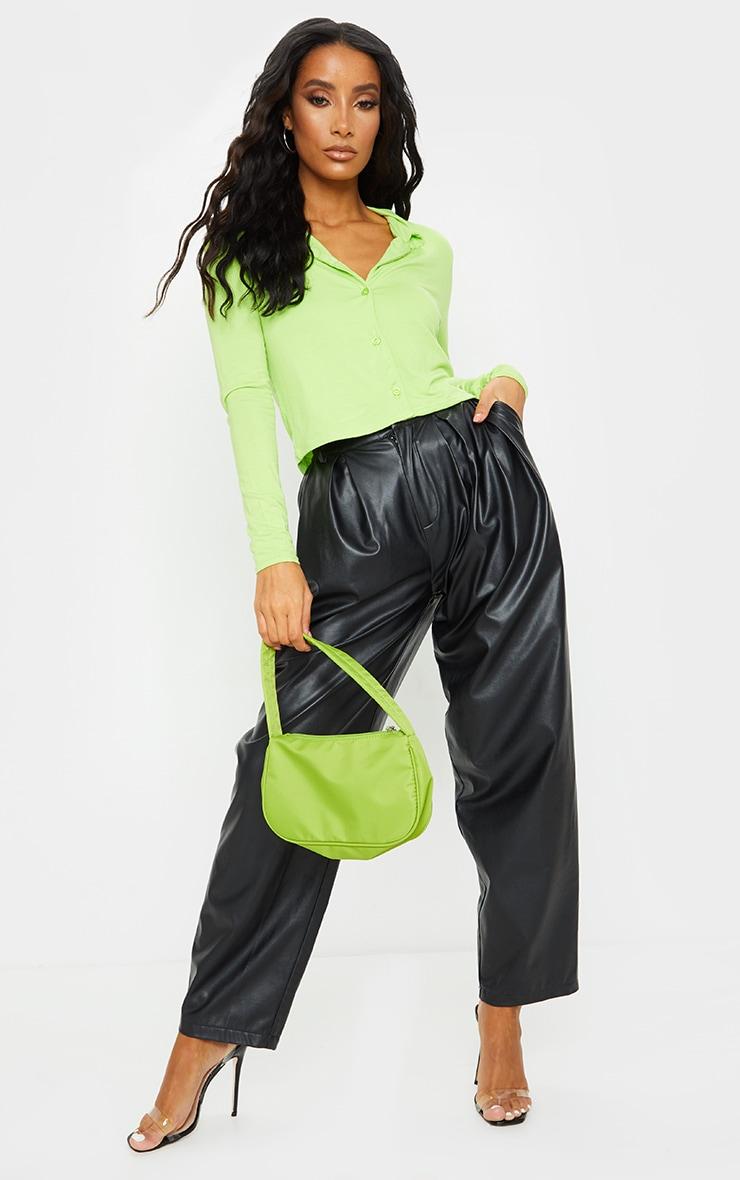 Lime Jersey Button Up Shirt 3