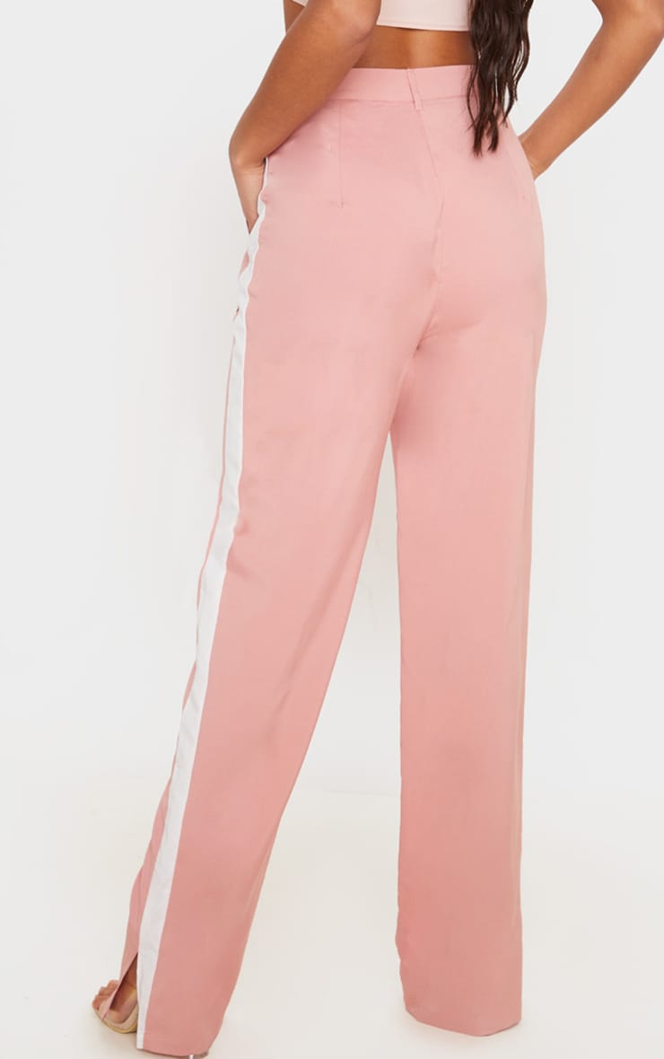 Dusty Pink Inside Out Pocket Trousers 4