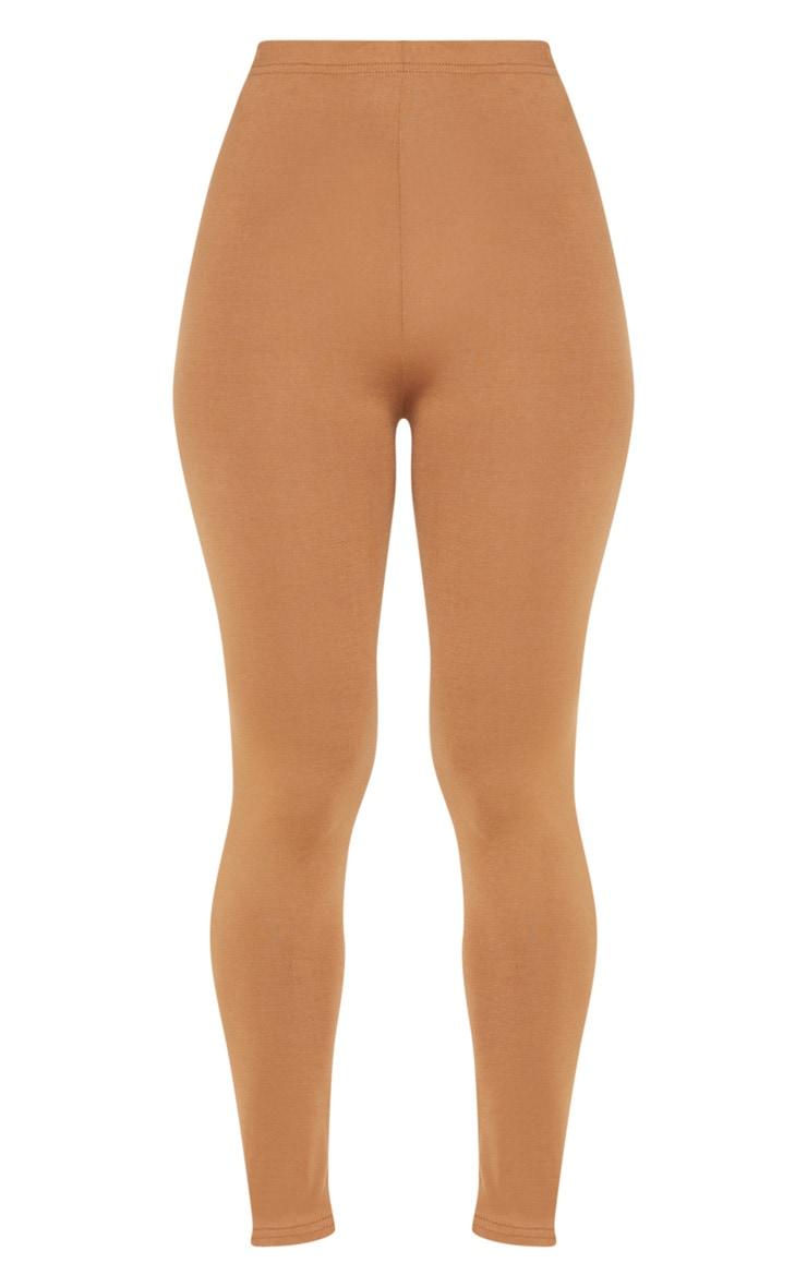 Petite Clarinda Camel Basic Leggings 3
