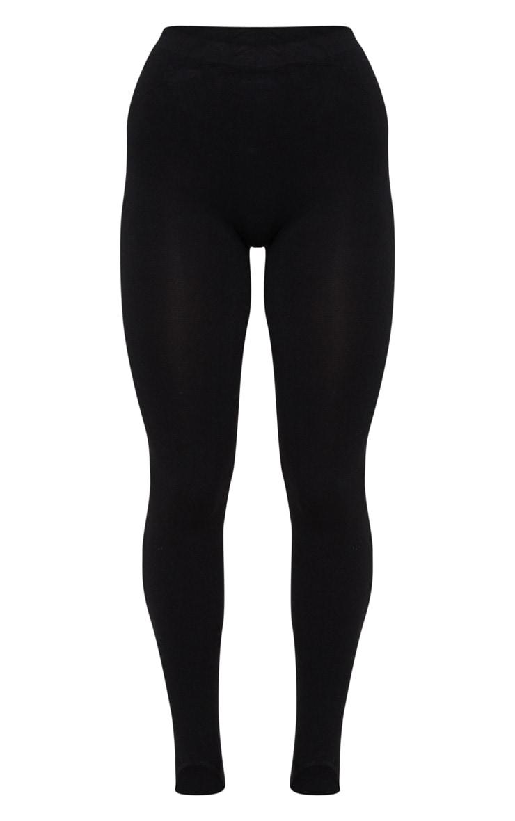 Black Seamless Stirrup Leggings 5
